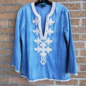 J.Crew denim tunic   Size 4*